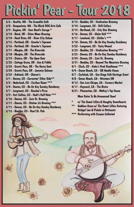 2018 Tour Poster 11x17